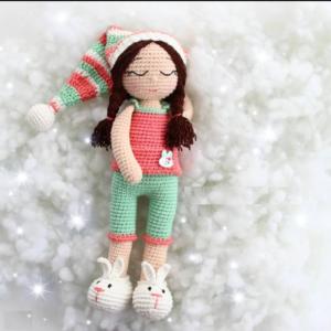 boneca dormindo- Receitas de Amigurumi em português